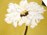 White Flower on Ochre Posters by Soraya Chemaly