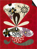 Flowers in Flight II Prints by Mary Calkins