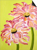 Two Pink Flowers Print by Soraya Chemaly