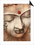Serene Buddha Poster by Raspin Stuwart