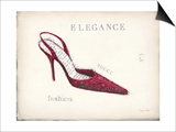 Elegance - Rouge Detail Prints by Emily Adams