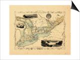 1848, Canada, Ontario, Quebec Poster