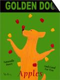 Golden Dog Prints by Ken Bailey