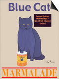 Blue Cat Prints by Ken Bailey
