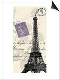 Eiffel Tower Print by  Z Studio