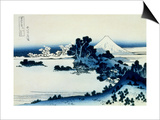 36 Views of Mount Fuji, no. 13: Shichiri Beach in Sagami Province Art by Katsushika Hokusai