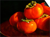 Five Persimmons Print by Terri Hill