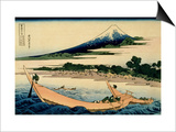36 Views of Mount Fuji, no. 28: Shore of Tago Bay, Ejiri at Tokaido Print by Katsushika Hokusai