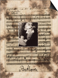 Principles of Music-Beethoven Poster by Susan Hartenhoff