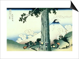 36 Views of Mount Fuji, no. 16: Mishima Pass in Kai Province Poster by Katsushika Hokusai