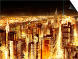 Manhattan Panoramic Nocturne Posters by Christopher Farrell