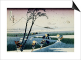 36 Views of Mount Fuji, no. 18: Ejiri in the Suruga Province Prints by Katsushika Hokusai