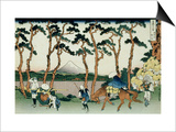 36 Views of Mount Fuji, no. 36: Hodogaya on the Tokaido Prints by Katsushika Hokusai