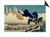 36 Views of Mount Fuji, no. 42: The Back of the Fuji from the Minobu River Posters by Katsushika Hokusai