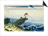 36 Views of Mount Fuji, no. 15: Kajikazawa in Kai Province Posters by Katsushika Hokusai