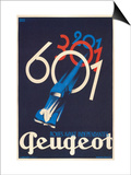French Poster for Peugeot Print