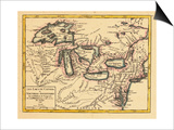 1749, Illinois, Indiana, Michigan, Minnesota, New York, Ohio, Ontario, Pennsylvania, Wisconsin Prints