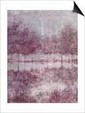 Shimmering Plum Landscape 1 Print by Jill Schultz McGannon