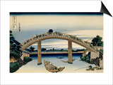 36 Views of Mount Fuji, no. 4: Through the Mannen Bridge at Fukagawa Print by Katsushika Hokusai