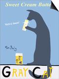 Gray Cat Prints by Ken Bailey