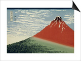 36 Views of Mount Fuji, no. 2: Mount Fuji in Clear Weather (Red Fuji) Prints by Katsushika Hokusai