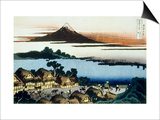 36 Views of Mount Fuji, no. 41: Dawn at Isawa in the Kai Province Prints by Katsushika Hokusai