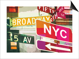 Broadway and Fifth Ave Prints by Evangeline Taylor