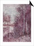 Shimmering Plum Landscape 2 Prints by Jill Schultz McGannon