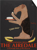 Airedale Banana Cream Prints by Ken Bailey