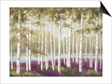 Plum Forest Floor Art by Jill Schultz McGannon