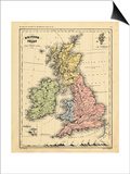 1866, Ireland, England, Scotland, United Kingdom, Wales, British Isles Prints