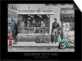 Highway 51 (Silver Series) Print by Chris Consani
