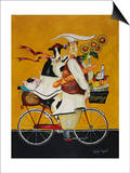 Cow Chef Print by Jennifer Garant