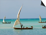 East Africa, Tanzania, Zanzibar, A Traditional Dhow, India, and East Africa Plakat af Paul Harris