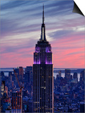 New York City, Manhattan, View Towards Downtown; Empire State Building from Rockerfeller Centre, US Prints by Gavin Hellier