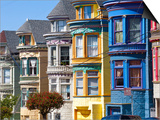 Colourfully Painted Victorian Houses in the Haight-Ashbury District of San Francisco, California, U Posters by Gavin Hellier