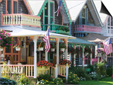 Gingerbread House, Oak Bluffs, Martha's Vineyard, Massachusetts, USA Print by Walter Bibikow