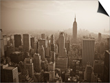 Manhattan Skyline Including Empire State Building, New York City, USA Posters by Alan Copson