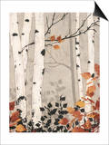 Birch Damask Prints by Melissa Pluch