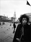 Jimi Hendrix -1968 Print by Charles Sanders