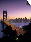 Oakland Bay Bridge, San Francisco, California, USA Print by Walter Bibikow
