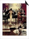 Jazz Night Out Print by Brent Heighton
