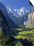 Switzerland, Bernese Oberland, Lauterbrunnen Town and Valley Prints by Michele Falzone