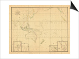 1831, Indonesia, Malaysia, Philippines, Oceania Prints