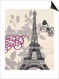 World Tour Butterfly Print by  Z Studio