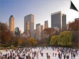 Wollman Icerink at Central Park, Manhattan, New York City, USA Posters by Alan Copson