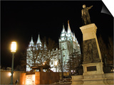 Utah, Salt Lake City, Mormon Theatre Monument in Honour of Brigham Young and the Pioneers, USA Prints by Christian Kober