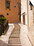 Italy, Umbria, Preci, Narrow Street in Preci, known Throughout Europe in Sixteenth Century for its  Posters by Katie Garrod