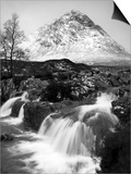Coupall Falls and Buachaille Etive Mor in Winter, Glencoe, Scotland, UK Posters by Nadia Isakova