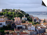 Lisbon, the Castelo Sao Jorge in Lisbon with the Rio Tejo in the Background, Portugal Prints by Camilla Watson